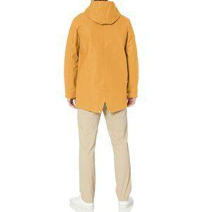 Men's Rubberized Rain Parka Jacket, Yellow, Medium
